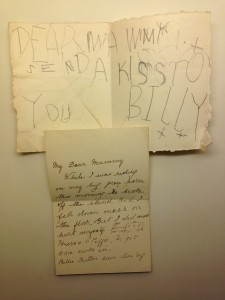 Billy's 1st letter