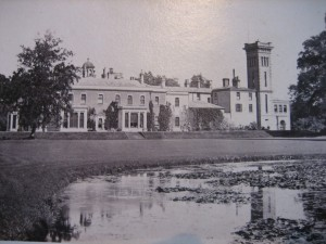 Didlington Hall from the lake
